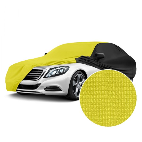Coverking® - Satin Stretch™ Yellow with Black Sides Custom Car Cover