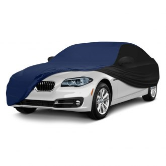 Coverking® - Satin Stretch™ Indoor Custom Blue Car Cover with Black Sides