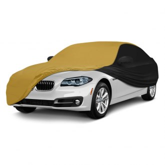 Coverking® - Satin Stretch™ Indoor Custom Gold Car Cover with Black Sides