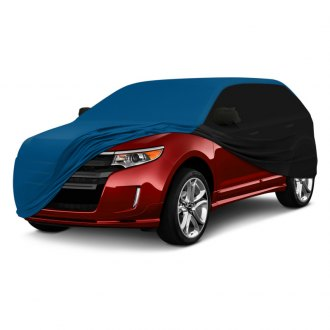 Coverking® - Satin Stretch™ Indoor Custom Grabber Blue Car Cover with Black Sides