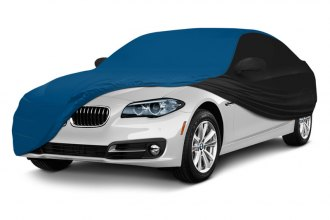 Coverking® CVC3SS284CH7096 - Satin Stretch™ Custom Grabber Blue Car Cover with Black Sides