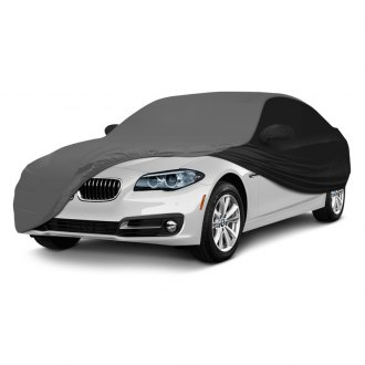 Coverking® - Satin Stretch™ Indoor Custom Gray Car Cover with Black Sides