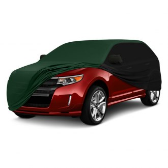 Coverking® - Satin Stretch™ Indoor Custom Green Car Cover with Black Sides