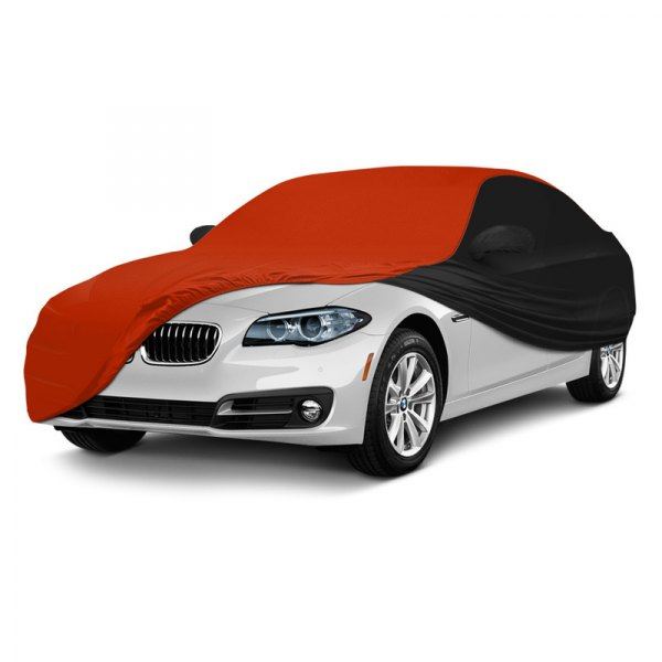 Coverking® - Satin Stretch ™ Custom Inferno Orange with Black Car Cover