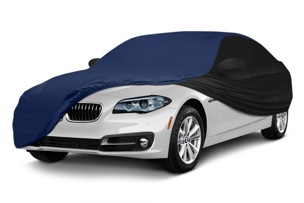 Coverking® - Satin Stretch ™ Custom Navy Blue with Black Car Cover