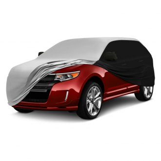Coverking® - Satin Stretch™ Indoor Custom Pearl White Car Cover with Black Sides