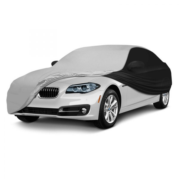 Coverking® - Satin Stretch ™ Custom Pearl White with Black Car Cover