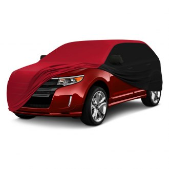 Coverking® - Satin Stretch™ Indoor Custom Red Car Cover with Black Sides