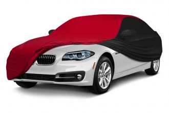 Coverking® CVC3SS294CH9455 - Satin Stretch™ Indoor Custom Red Car Cover with Black Sides