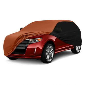 Coverking® - Satin Stretch™ Indoor Custom Rust Orange Car Cover with Black Sides