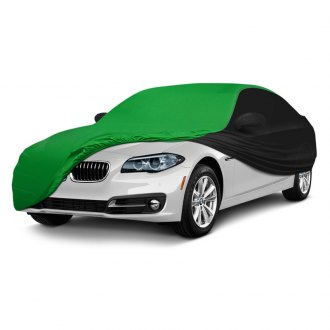 Coverking® - Satin Stretch™ Indoor Custom Synergy Green Car Cover with Black Sides