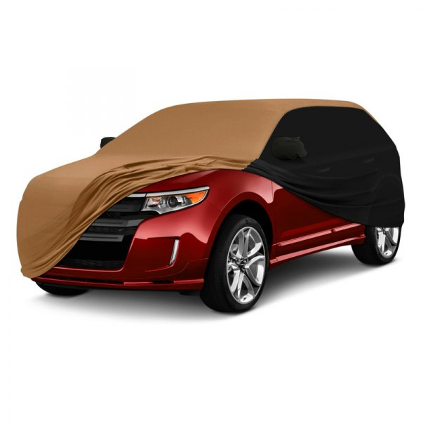 Coverking® - Satin Stretch ™ Custom Tan with Black Car Cover