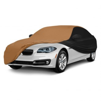 Coverking® - Satin Stretch™ Indoor Custom Tan Car Cover with Black Sides