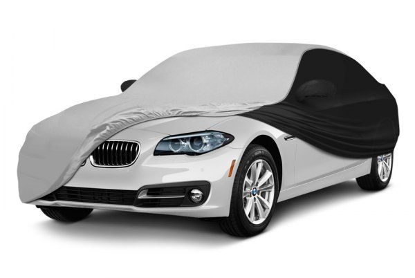 Coverking® - Satin Stretch ™ Custom White with Black Car Cover