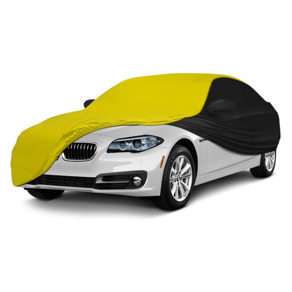 Coverking® - Satin Stretch ™ Custom Yellow with Black Car Cover
