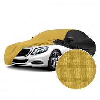 Coverking® - Satin Stretch™ Indoor Gold Custom Car Cover with Black Sides