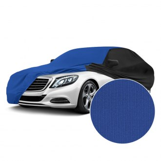 Coverking® - Satin Stretch™ Indoor Grabber Blue Custom Car Cover with Black Sides