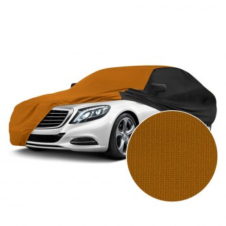 Coverking® - Satin Stretch™ Indoor Grabber Orange Custom Car Cover with Black