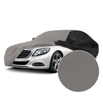 Coverking® - Satin Stretch™ Indoor Gray Custom Car Cover with Black Sides