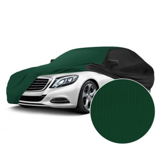Coverking® - Satin Stretch™ Indoor Green Custom Car Cover with Black Sides