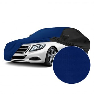 Coverking® - Satin Stretch™ Indoor Impact Blue Custom Car Cover with Black