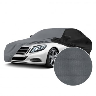 Coverking® - Satin Stretch™ Indoor Metallic Gray Custom Car Cover with Black