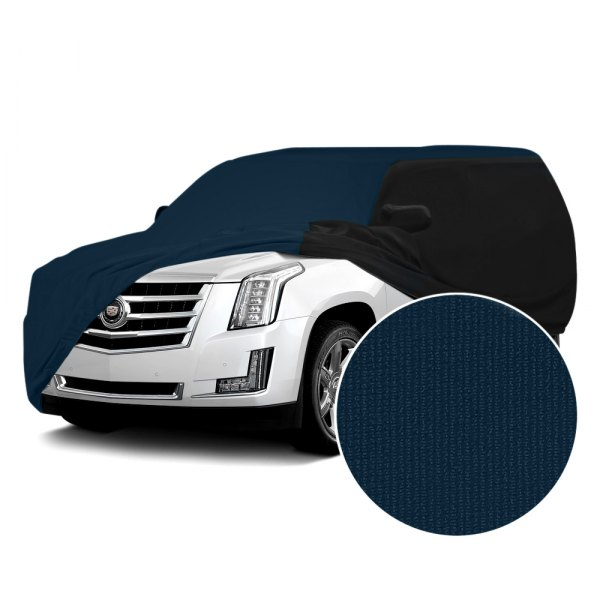 Coverking® - Satin Stretch™ Navy Blue with Black Custom Car Cover