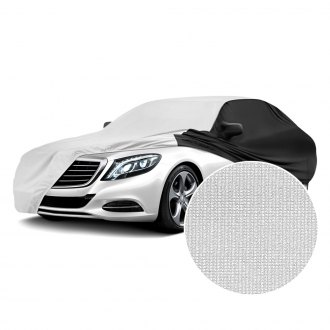 Coverking® - Satin Stretch™ Indoor Pearl White Custom Car Cover with Black Sides