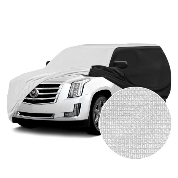 Coverking® - Satin Stretch™ Pearl White with Black Custom Car Cover