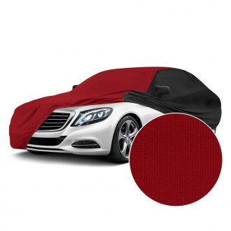 Coverking® - Satin Stretch™ Indoor Pure Red Custom Car Cover with Black