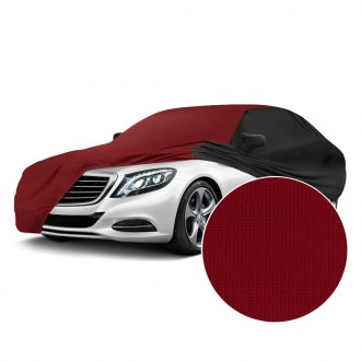 Coverking® - Satin Stretch™ Indoor Ruby Red Custom Car Cover with Black
