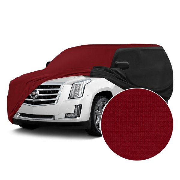 Coverking® - Satin Stretch™ Ruby Red with Black Custom Car Cover