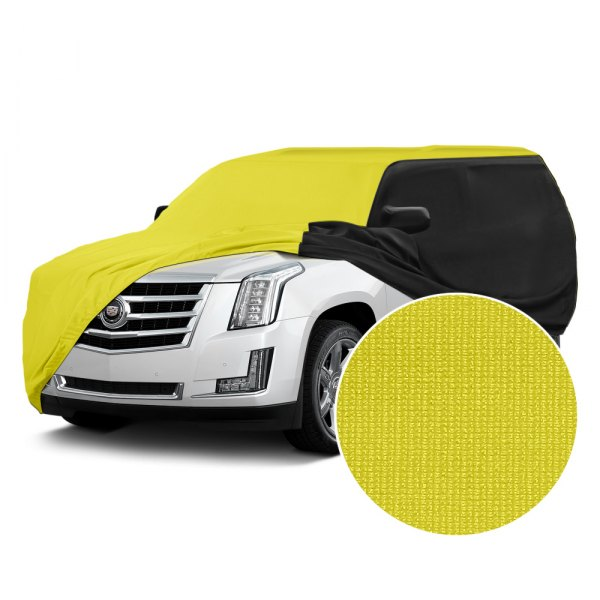 Coverking® - Satin Stretch™ Yellow with Black Custom Car Cover