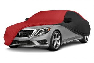 Coverking® CVC3SP294FD8244 - Stormproof™ Custom Red Car Cover with Black Sides