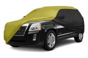 Image may not reflect your exact vehicle! Coverking® - Stormproof™ Custom Black & Yellow Car Cover