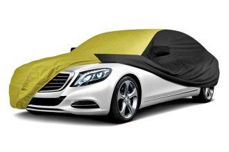 Coverking® CVC3SP293DG7557 - Stormproof™ Custom Yellow Car Cover with Black Sides