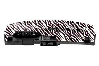 Coverking® CDCA13HD046 - Designer Velour Zebra Custom Dash Cover