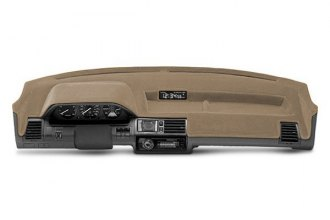 Coverking® CDCC12CH191 - Beige Suede Custom Dash Cover