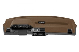 Coverking® CDCV5DG116 - Tan Brown Velour Custom Dash Cover