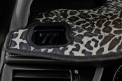 Image may not reflect your exact vehicle! Coverking® - Designer Velour Leopard Custom Dash Cover