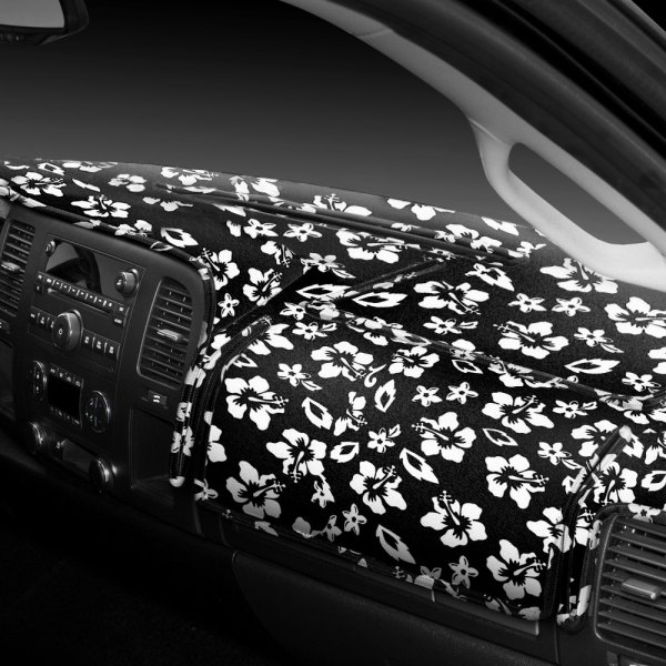 Coverking® - Designer Velour Hawaiian Black Custom Dash Cover