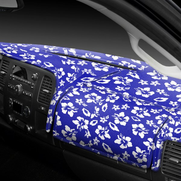 Image may not reflect your exact vehicle! Coverking® - Designer Velour Hawaiian Blue Custom Dash Cover