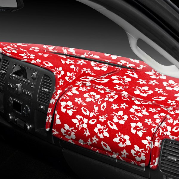 Image may not reflect your exact vehicle! Coverking® - Designer Velour Hawaiian Red Custom Dash Cover