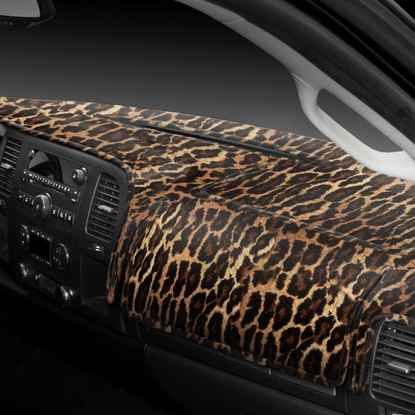 Coverking® - Designer Velour Leopard Custom Dash Cover