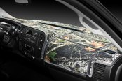 Image may not reflect your exact vehicle! Coverking® - Designer Velour Mossy Oak™ Custom Dash Cover