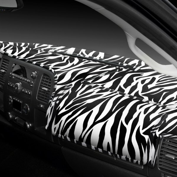 Coverking® - Designer Velour Zebra Custom Dash Cover