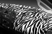 Image may not reflect your exact vehicle! Coverking® - Designer Velour Zebra Custom Dash Cover