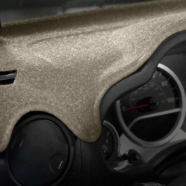 Image may not reflect your exact vehicle! Coverking® - Molded Carpet Beige Custom Dash Cover