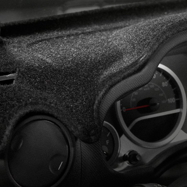 Image may not reflect your exact vehicle! Coverking® - Black Molded Carpet Custom Dash Cover
