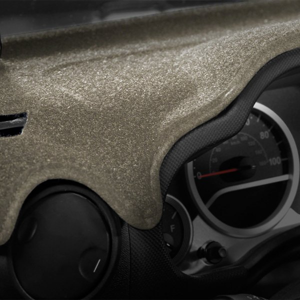 Image may not reflect your exact vehicle! Coverking® - Molded Carpet Taupe Custom Dash Cover